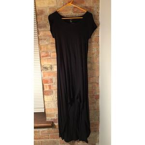 Peek-a-boo Back, Black, Hi-Low Dress