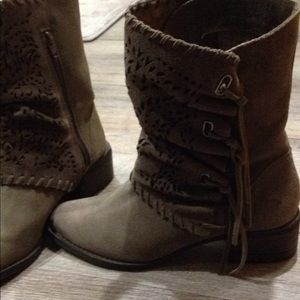 Womens leather naughty monkey brown boots shoes 9