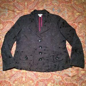 Motherhood Maternity black floral jacquard blazer