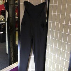 Black Dressy Jumpsuit, zip back