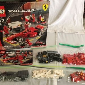 Lego 8673 Ferrari Racers With Instructions & box