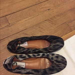 Lanvin cheetah ballet flat