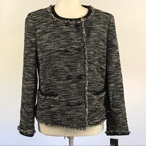 Dkny Donna Karen NY Metallic tweed blazer Sz 12