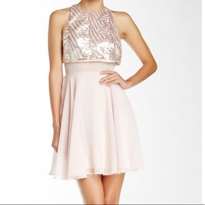 Dress- Blush Pink- Silver Sequins- Size 3