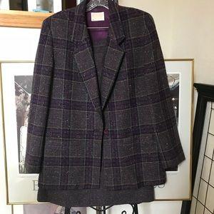 PENDLETON Vintage Purple Tweed Set Sz 10