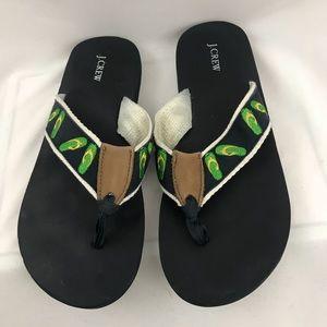 J. Crew Sandal Embellished Flip Flops size 7