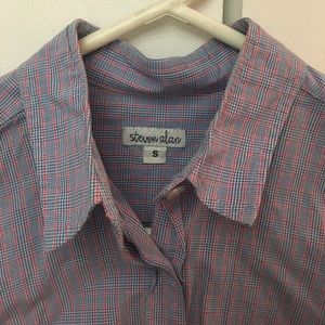 Steven Alan size S button down/oxford blue shirt
