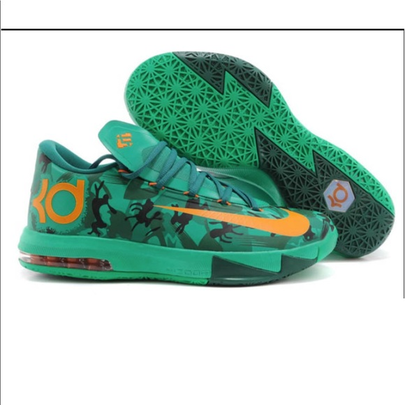 b476be4fa1e1 Nike Kevin Durant KD VI 6 Easter Green Camo. M 5a0a5334bf6df5162d1955f6