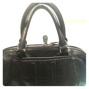 Brighton Kiara black leather satchel