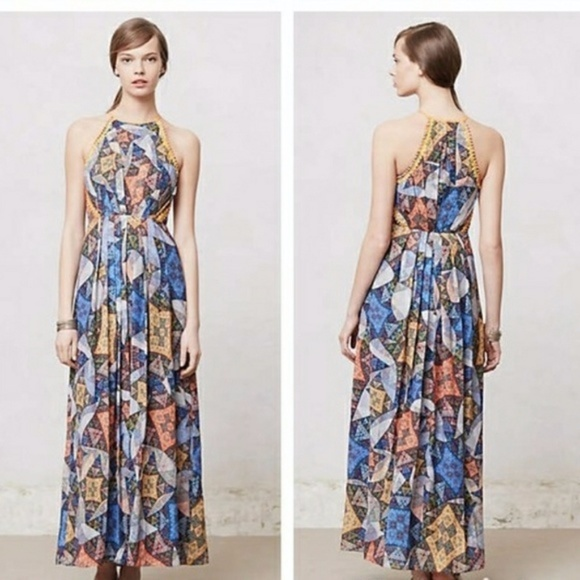 97a23639cec4 Anthropologie Dresses & Skirts - Anthro Ranna Gill Condesa Pleated Maxi  Dress M