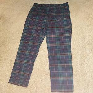 **Sale** Plaid Cropped Pants NWOT