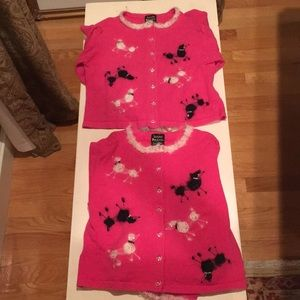 Other - Girl's 6 Susan Bristol pink button-up sweaters