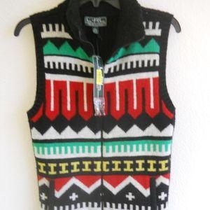 LAUREN Ralph Lauren AZTEC Sweater Vest BRIGHT