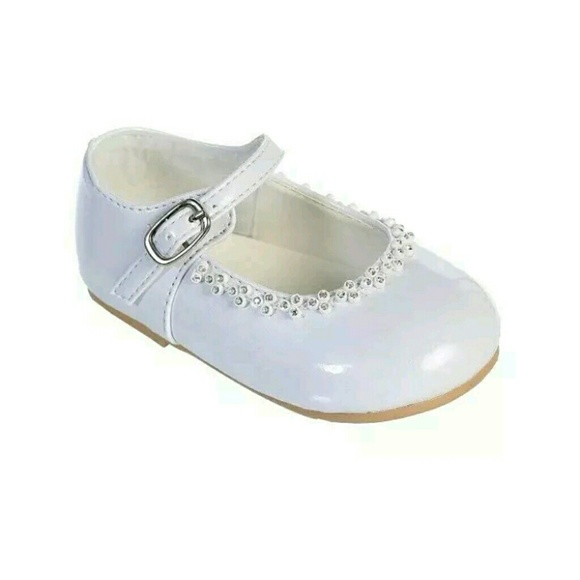 c2f5983143f Infants Clear Rhinestone Baby Girls Dress Shoes Ch