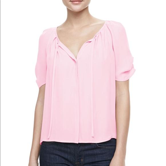 72dbfb836a791 Joie Tops - JOIE Berkeley Silk Top in Pink