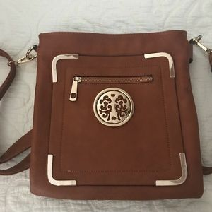 Soft Faux Leather Crossbody Bag