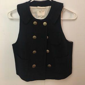 3.1 Phillip Lim cropped nautical navy vest size 2