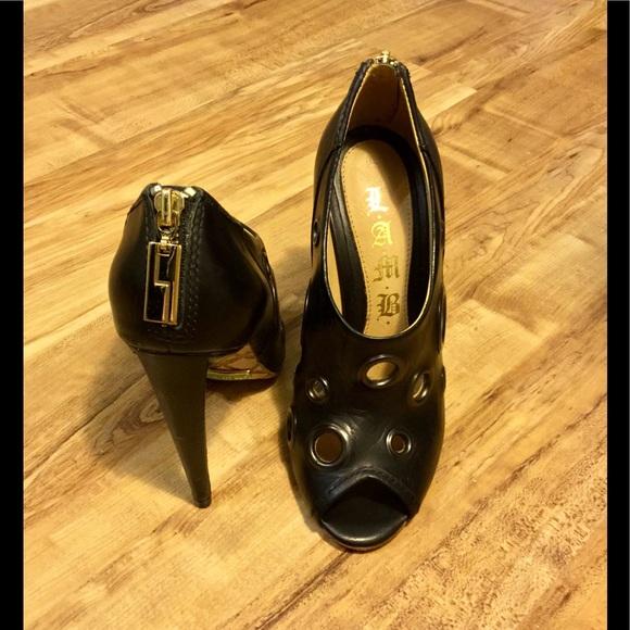 L.A.M.B. scarpe   Lamb Nero Heels     Poshmark 1729e5