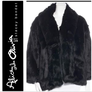 Authentic Alice and Olivia faux fur jacket