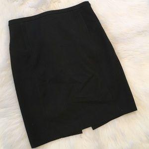 Express Black Pinstripe Pencil Skirt