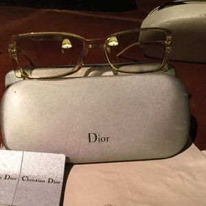 Dior silver framed and light tinted sunglasses 😎