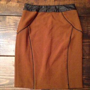 Darling brand Anthropologie piping pencil skirt XS