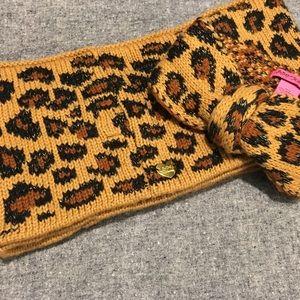 Betsey Johnson infinity scarf & headband set!