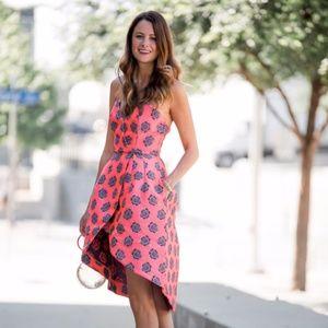 NWT ASOS 'Fluro' jacquard bandeau wrap front dress