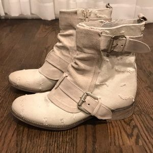 Distressed Light colored boots