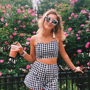 NWT LF gingham cropped tank