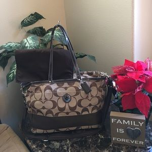 Coach Multifunction Diaper Bag with Changing Pad