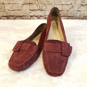 UGG Retreat Suede and Shearling Driving Moccasins