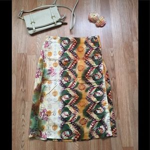 Women's stretch printed skirt