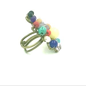 Jewelry - Colorful multi bead ring - adjustable