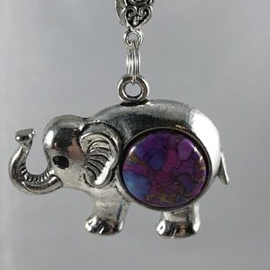 Purple Mohave Cooper Turquoise Elephant A-11-19