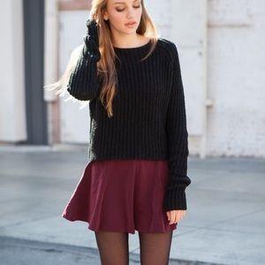 Brandy Melville Glenna maroon skater skirt