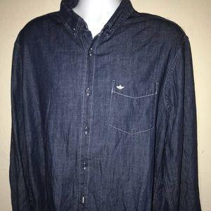 Blue Jean Mens Dockers Dress Shirt