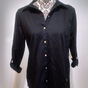 Charter Club womens size 4 blouse black career