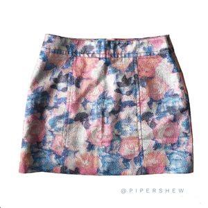 ⚜ NASTY GAL Flower Shimmer Skirt