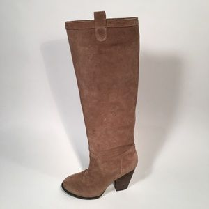 Vince Comutio Tan Suede Tall Boots