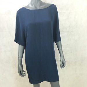 VINCE. Blue Shirt Dolman Dress Small