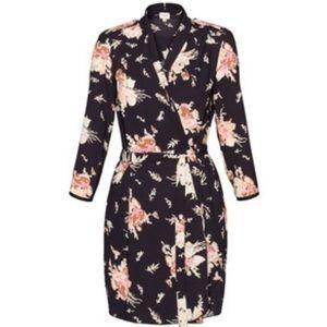 Aritzia Franca Floral Wrap Dress