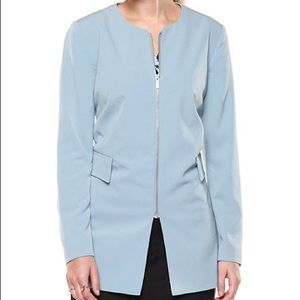 Pale Blue Three quarter zip jacket