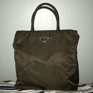 Green Prada Mini Nylon Tote OBO