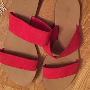 Red/tan sandals, barely worn.