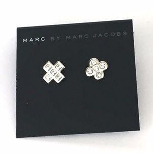 New Marc by Marc Jacobs Crystal Cross Earrings