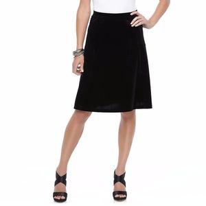 Jaclyn Smith Women's A Line Skirt, Black, XX-Large
