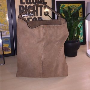 Suede Banana Republic hobo bag w/ interior pockets