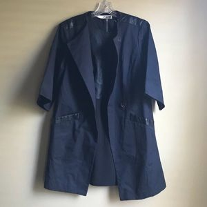 Rogan Dark Gray Notch Lapel Coat Size 6