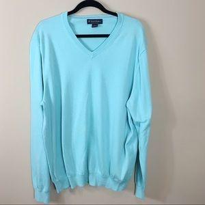 Men's Brooks Brothers Blue V-Neck Sweater